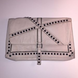 🌸Vince Camuto🌸 Oversized White Leather Clutch